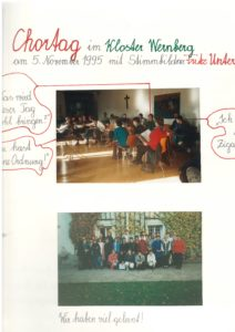 Mitwirken beim Adventsingen des MGV Kirchbach